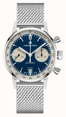 Hamilton Classique américain | chrono automatique intra-matic | bracelet en maille d'acier H38416141