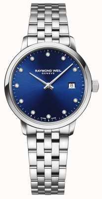 Raymond Weil Toccata | 11 cadran bleu diamant | bracelet en acier inoxydable 5985-ST-50081