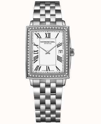 Raymond Weil Toccata | diamant | cadran blanc | bracelet en acier inoxydable 5925-STS-00300