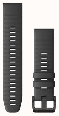 Garmin Quickfit 22 silicone gris ardoise, matériel noir 010-12863-22