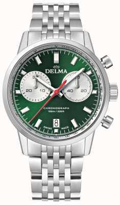 Delma Chronographe Continental | bracelet en acier inoxydable | cadran vert 41701.704.6.141