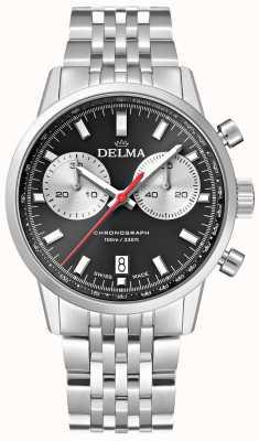 Delma Chronographe Continental | bracelet en acier | cadran noir 41701.704.6.031