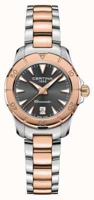 Certina Action Ds | bracelet en acier bicolore | cadran gris | cosc C0329512208100