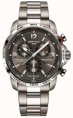 Certina Quartz podium Ds | bracelet en titane gris | cadran gris C0016474408700