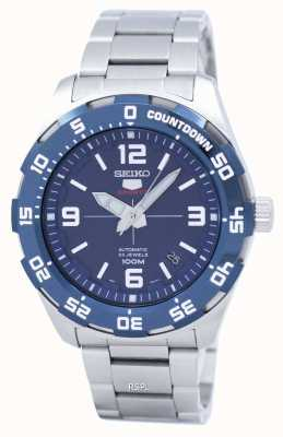 Seiko 5 sport | sports | automatique | cadran bleu | acier inoxydable SRPB85K1