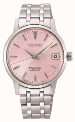 Seiko Presage | femmes | bracelet en acier inoxydable | cadran rose SRP839J1