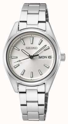 Seiko | femmes | quartz | bracelet en acier inoxydable | cadran argenté SUR349P1