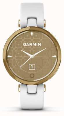 Garmin Édition classique Lily | lunette en or clair | étui blanc | bracelet en cuir italien 010-02384-B3