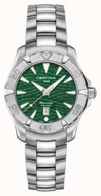 Certina Cadran vert scintillant pour femme DS Action C0322511109109