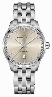 Hamilton Jazzmaster | auto | bracelet en acier inoxydable | cadran champagne H32475120