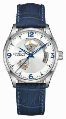 Hamilton Jazzmaster | automatique | coeur ouvert | bracelet en cuir bleu H32705651
