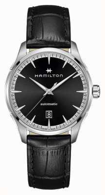 Hamilton Jazzmaster | auto | bracelet en cuir noir | cadran noir H32475730