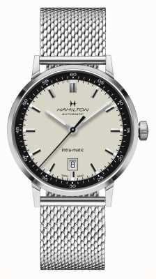 Hamilton Classique américain | intra-matic | bracelet en maille d'acier | cadran blanc H38425120