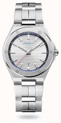 Michel Herbelin Cap camarat | cadran argenté | bracelet en acier inoxydable 12245/B42