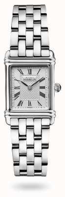 Michel Herbelin Art déco | bracelet en acier inoxydable | cadran argenté 17478/08B2
