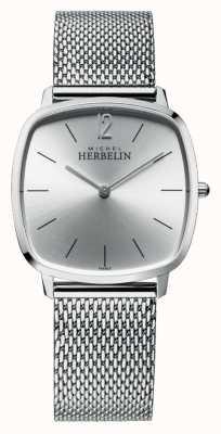 Michel Herbelin Ville | cadran argenté | bracelet en maille d'acier inoxydable 16905/11B