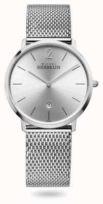 Michel Herbelin Ville | bracelet en maille d'acier inoxydable | cadran argenté 19515/11B