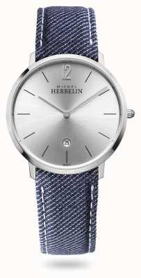 Michel Herbelin Ville | bracelet en denim | cadran argenté 19515/11JN