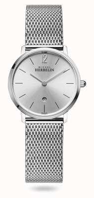Michel Herbelin Ville | cadran argenté | bracelet en maille d'acier inoxydable 16915/11B