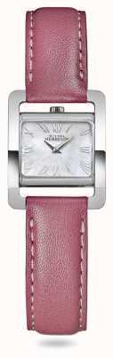 Michel Herbelin V avenue | bracelet en cuir rose | cadran en nacre 17037/09ROZ