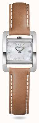 Michel Herbelin V avenue | bracelet en cuir marron nacre 17037/09GO
