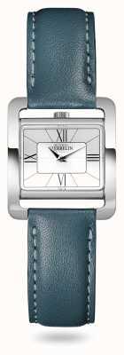 Michel Herbelin V avenue | bracelet en cuir vert canard | cadran argenté 17137/08BV