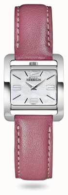 Michel Herbelin V avenue | bracelet en cuir rose | cadran en nacre 17137/19ROZ