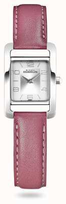 Michel Herbelin V avenue | bracelet en cuir rose | cadran argenté 17437/21ROZ