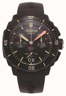 Alpina Seastrong diver 300 | chronographe | bracelet en silicone noir AL-372LBBG4FBV6