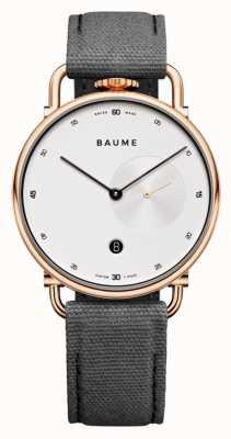 Baume & Mercier Baume | quartz écologique | cadran blanc | bracelet en liège gris M0A10600