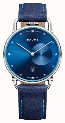 Baume & Mercier Baume | quartz écologique | cadran bleu | bracelet en liège bleu M0A10601