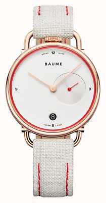 Baume & Mercier Baume | quartz écologique | cadran blanc | bracelet en liège blanc M0A10602