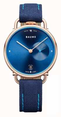Baume & Mercier Baume | quartz écologique | bracelet en liège bleu M0A10603