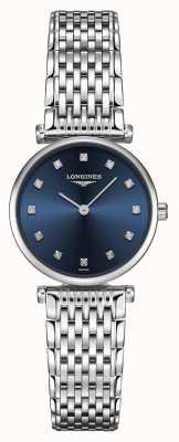 Longines Femmes | la grande classique | cadran bleu diamant | acier inoxydable L42094976