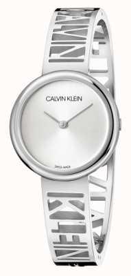 Calvin Klein Mania | bracelet en acier inoxydable | cadran argenté | taille M KBK2M116