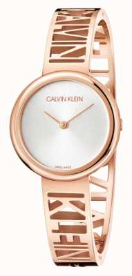 Calvin Klein Mania | acier pvd or rose | cadran argenté | taille M KBK2M616