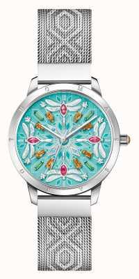 Thomas Sabo Glam & soul | bracelet en maille d'acier pour femme | cadran de libellule de pierres précieuses WA0368-201-215-33
