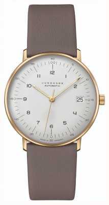 Junghans Bill Max | kleine | automatique | bracelet en cuir gris 27/7108.02