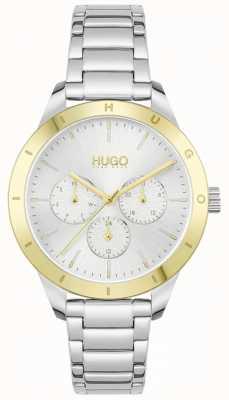 HUGO #ami | bracelet en acier inoxydable | cadran argenté 1540090