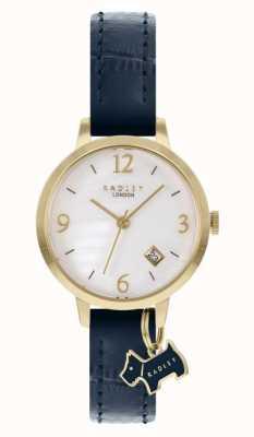 Radley Bracelet en cuir bleu marine pour femme | cadran en nacre blanche RY21212