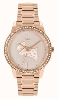 Radley | femmes | bracelet en acier plaqué or rose | cadran imprimé chien en or rose | RY4556