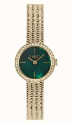 Radley | femmes | bracelet en maille plaquée or | cadran en nacre verte | RY4568