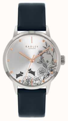 Radley | femmes | bracelet en cuir bleu | cadran argenté | RY21241A