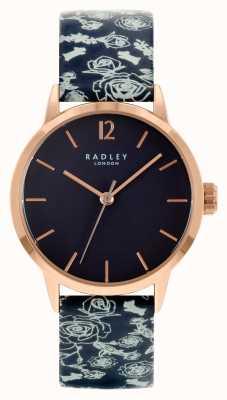 Radley Bracelet en cuir noir pour femme | cadran noir RY21250A