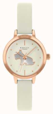 Radley Bracelet en cuir crème pour femmes | cadran crème RY21252A