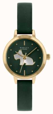 Radley Bracelet en cuir vert pour femme | cadran vert RY21256A