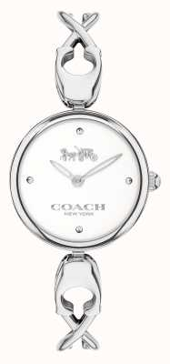 Coach Caroll | bracelet jonc femme en acier inoxydable | cadran blanc 14503750