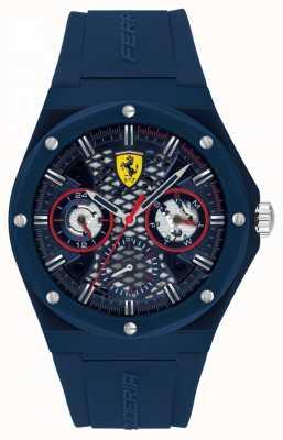 Scuderia Ferrari | aspirer | bracelet en silicone bleu | cadran bleu | 0830788