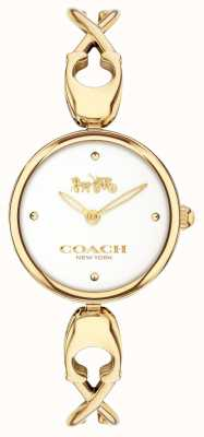 Coach Caroll | cadran blanc | acier plaqué or pvd 14503749