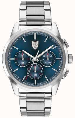 Scuderia Ferrari | grand tour | cadran bleu | bracelet en acier inoxydable | 0830804